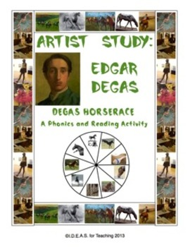 Edgar Degas Phonics Horserace Game:  Short Vowel Focus