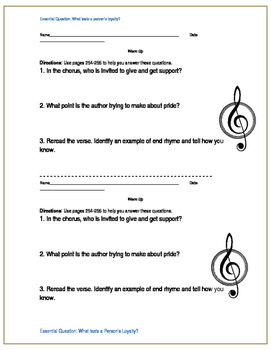 Edge Green page 255 questions as a warm up