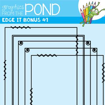 Frames - Edge It Bonus Set of Borders Great For Worksheet Edges!
