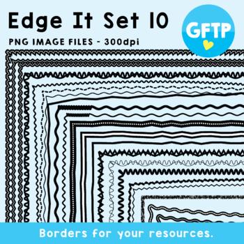 Edge It Set 10 -  Borders Great For Worksheet Edges!