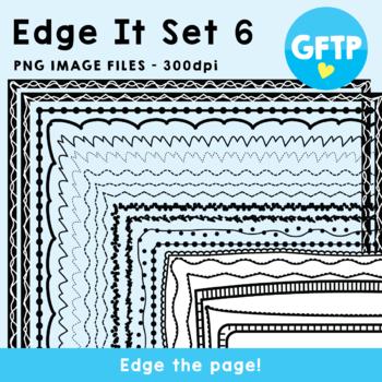 Edge It Set 6 -  Borders Great For Worksheet Edges!