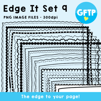 Edge It Set 9 -  Borders Great For Worksheet Edges!