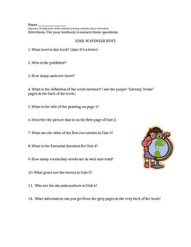 Edge Textbook Scavenger Hunt