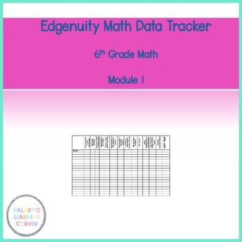 Edgenuity Unit 1 Data Tracker 6th Grade