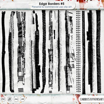 Messy, Inky Borders, Grunged and Distressed, Old and Worn Vintage ClipArt
