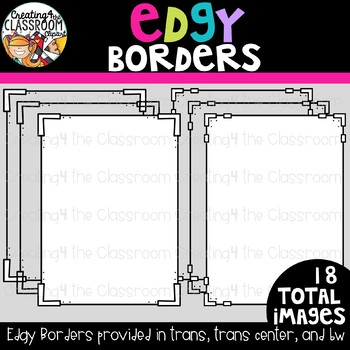 Edgy Borders {Borders Clipart}
