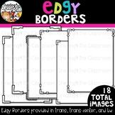 Edgy Borders {Borders Clipart}