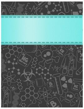 Ediable Science Themed Planner/Binder Covers
