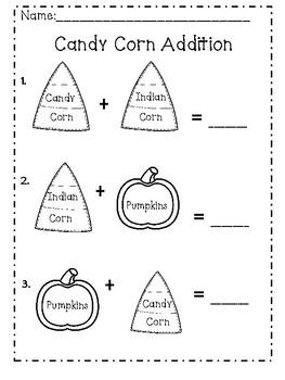 Edible Candy Corn Math