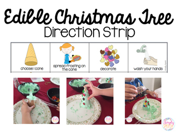Edible Christmas Tree Direction Strip FREE!