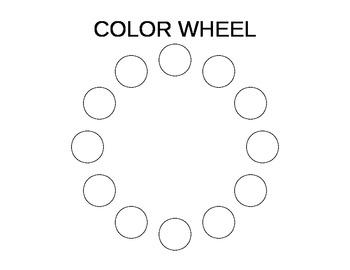 Edible Color Wheel Placemat