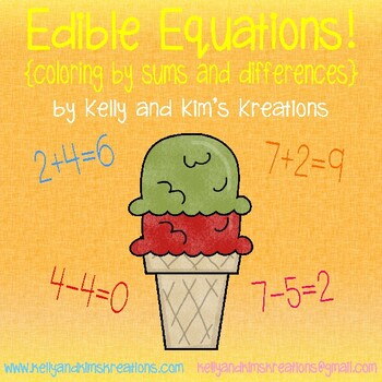 Edible Equations! {coloring by sums and differences}