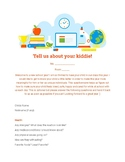 Edible First Day Parent Questionnaire