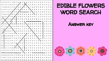 Edible Flower Word Search; FACS Culinary Bellringer Biology Forage Forest Herbs