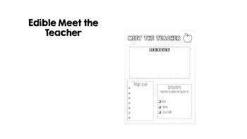 Edible Meet the Teacher