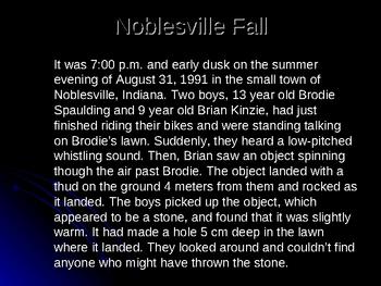 Edible Meteorite PowerPoint