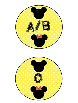 Mickey and Minnie Inspired Labels
