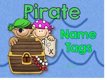 Editable Pirate Name Tags