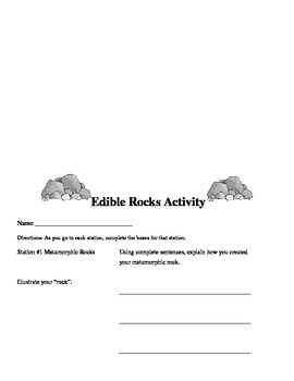 Edible Rocks Science Lab