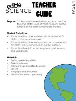 Hands-on Earth Science: Edible Experiments & Activities for the STEM Classroom