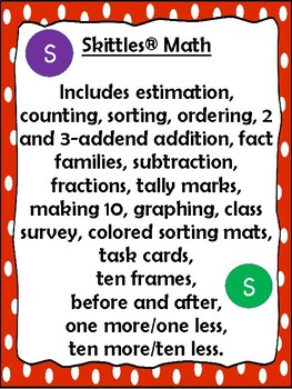 Edible Skittles Math Bundle