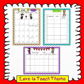 The Forever Teacher Planner Love to Teach Theme
