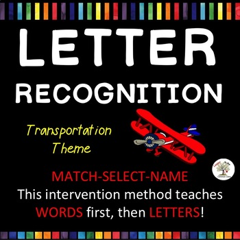 A-Z LETTER RECOGNITION: Trains, Planes and More! (Down Syndrome, autism & more)