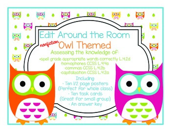 Edit Around the Room: Facts About Owls! Nonfiction! Editin