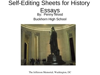 Edit Essays for AP US History, Student Self-Edits