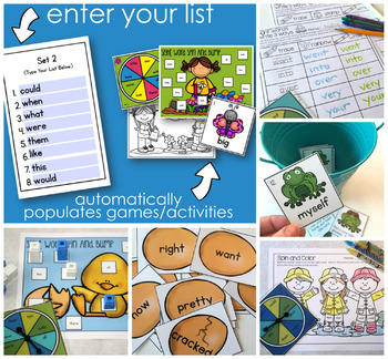 Edit It - A Year of EDITABLE Sight Word Activities (Growing Bundle)
