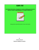 Edit It! Punctuation and Capitalization Practice Special E