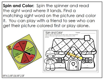 Edit It for December Sight Word Activities-Differentiated (Color and B/W)