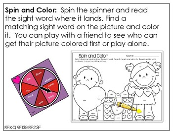 Edit It for February Sight Word Activities-Differentiated (Color and B/W)