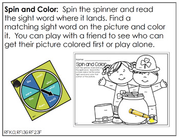 Edit It for March Sight Word Activities - Differentiated (Color or B/W)