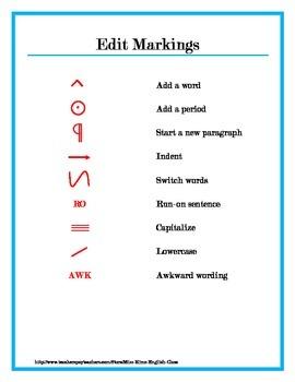 Edit Markings