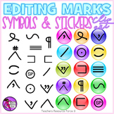 Edit Marks Clip Art Stickers
