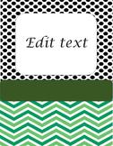 Edit Portfolio covers and folders