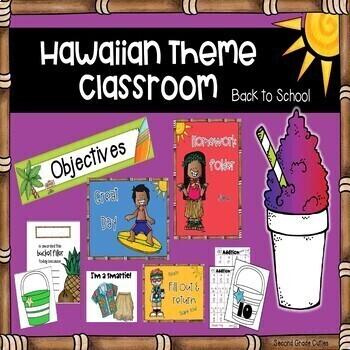 Edit Product: Back to School Start up - Classroom Management Hawaiian/Tropical