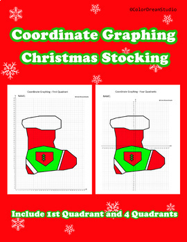 Coordinate Graphing Picture:Christmas Stocking