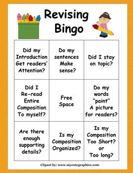 Edit & Revise Bingo 4th Grade STAAR Writing