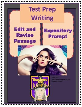 Edit/Revise Passage & Expository Prompt: Katy Perry