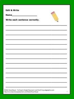 Edit & Write Task Cards
