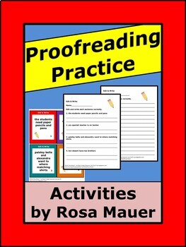 Proofreading Practice Worksheets and Task Cards Language ArtsActivities for Kids
