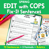 Writing with 'COPS' Fix It Sentences in SPRING