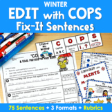 Edit Writing with 'COPS' Fix It Sentences in WINTER