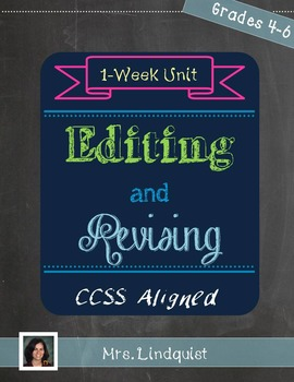 Edit and Revise - Writing Across the Curriculum - CCSS Aligned