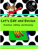 Edit and Revise your Writing 2nd and 3rd grade