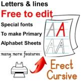 Edit everything, one key typing alphabet sheets, multi-fun