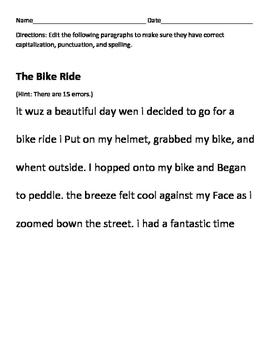 Edit the Paragraphs