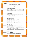 Edit with C.U.P.S. *I.* ~ Proofreading Checklist Poster